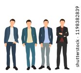 vector  isolated  man stands ... | Shutterstock .eps vector #1198382839