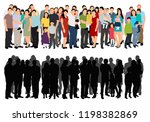 vector  isolated  a lot of... | Shutterstock .eps vector #1198382869