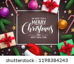 christmas background vector... | Shutterstock .eps vector #1198384243