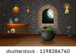 decoration house of halloween | Shutterstock .eps vector #1198386760
