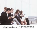 business team uses laptops and...   Shutterstock . vector #1198387390