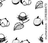 rambutan tropical fruits... | Shutterstock .eps vector #1198388473