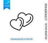 heart icon vector. perfect love ...
