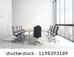 modern meeting room interior... | Shutterstock . vector #1198393189