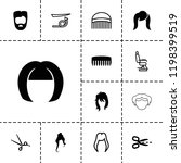 haircut icon. collection of 13... | Shutterstock .eps vector #1198399519