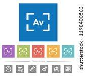 camera aperture value mode flat ... | Shutterstock .eps vector #1198400563