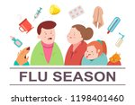 cold and flu season vector... | Shutterstock .eps vector #1198401460