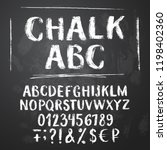 rough chalk latin alphabet on... | Shutterstock .eps vector #1198402360