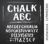 rough chalk latin alphabet on... | Shutterstock .eps vector #1198402360