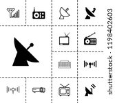 antenna icon. collection of 13... | Shutterstock .eps vector #1198402603