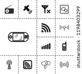 wireless icon. collection of 13 ... | Shutterstock .eps vector #1198403299