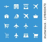 commercial icon. collection of... | Shutterstock .eps vector #1198403470