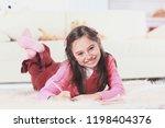 close up.little girl draws...   Shutterstock . vector #1198404376