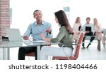 manager prepares the contract...   Shutterstock . vector #1198404466