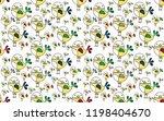 cute bird seamless pattern on... | Shutterstock .eps vector #1198404670