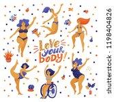 love your body poster  banner... | Shutterstock .eps vector #1198404826