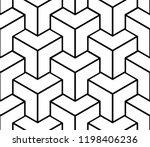 seamless geometric isometric... | Shutterstock .eps vector #1198406236