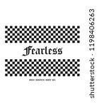 fearless checkerboard for t... | Shutterstock .eps vector #1198406263