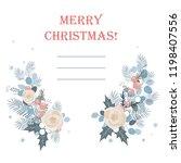 christmas frame made of fir...   Shutterstock .eps vector #1198407556