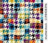 seamless geometric pattern.... | Shutterstock .eps vector #1198408396