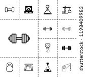 lifting icon. collection of 13... | Shutterstock .eps vector #1198409983