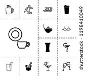 cup icon. collection of 13 cup... | Shutterstock .eps vector #1198410049