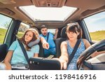 checking navigation in car.... | Shutterstock . vector #1198416916