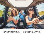 boring people in car. long road ...   Shutterstock . vector #1198416946