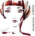 glamour girl | Shutterstock .eps vector #1198422