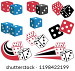 casino game icon  dices label ... | Shutterstock .eps vector #1198422199