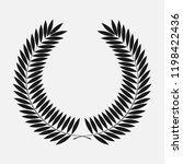 icon laurel wreath  spotrs... | Shutterstock . vector #1198422436