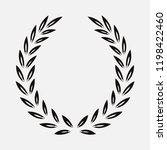 icon laurel wreath  spotrs... | Shutterstock . vector #1198422460