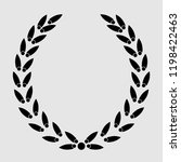 icon laurel wreath  spotrs... | Shutterstock . vector #1198422463