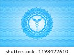 caduceus medical icon inside... | Shutterstock .eps vector #1198422610