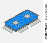 micro chip  computer chip ... | Shutterstock . vector #1198424833