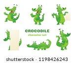 cartoon crocodile characters.... | Shutterstock .eps vector #1198426243