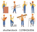 builder cartoon character.... | Shutterstock .eps vector #1198426306