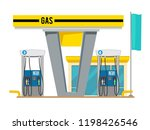 gas pump station. exterior of... | Shutterstock .eps vector #1198426546