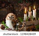 festive christmas still life... | Shutterstock . vector #1198428439