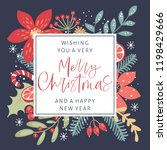 merry christmas calligraphy... | Shutterstock .eps vector #1198429666