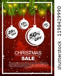 christmas special offer gifts... | Shutterstock .eps vector #1198429990