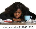 young angry and upset black... | Shutterstock . vector #1198431190