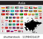 vector illustration all flags... | Shutterstock .eps vector #1198431619