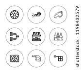 referee icon set. collection of ... | Shutterstock .eps vector #1198432579