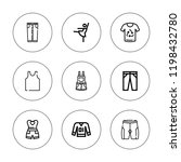 skirt icon set. collection of 9 ... | Shutterstock .eps vector #1198432780