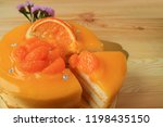 mouthwatering mandarin orange... | Shutterstock . vector #1198435150