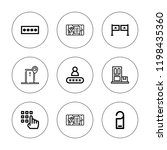 login icon set. collection of 9 ... | Shutterstock .eps vector #1198435360