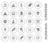 seasonal icon set. collection... | Shutterstock .eps vector #1198435420
