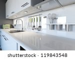 Modern White Kitchen Clean...