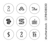tackle icon set. collection of...   Shutterstock .eps vector #1198438030